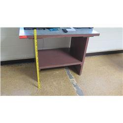 Short Wooden Table w/ Bottom Shelf