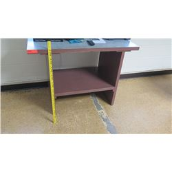 Wooden Table w/ Shelf