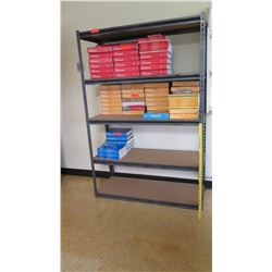 Metal Adjustable 4 Tier Shelf (contents not included)