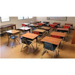 Qty 18 Desks w/ Chairs