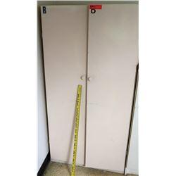 White 2 Door Cabinet w/ Shelves