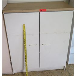 White 2 Door Cabinet w/ Shelves