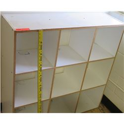 White Wood 9 Compartment Shelf