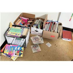 Qty 4 Boxes Misc Books