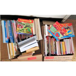 Qty 2 Boxes Misc Books