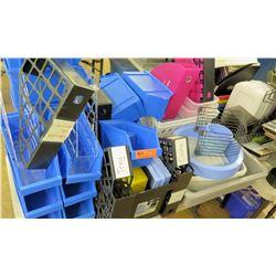 Multiple Misc Plastic & Metal File Sorters, etc