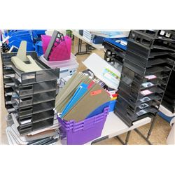 Multiple Misc Plastic & Metal File Sorters, etc