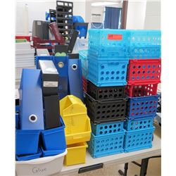 Multiple Misc Plastic Sorters, Bins, Storage, etc