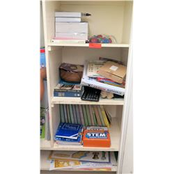 Contents of Shelf - Books, Stem Activities, etc (shelving not included)