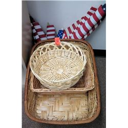 Qty 3 Baskets & American Flags
