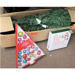 Artificial Christmas Tree, Decorations, etc