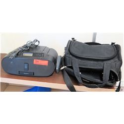 Sony CD Player & Carrying Case