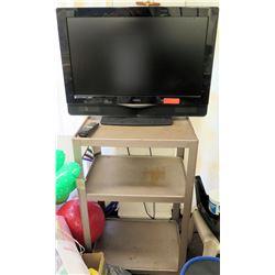Vizio Television TV, Remote & Rolling Cart