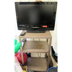 Vizio Television TV, Remote & Rolling Cart
