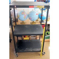 Metal & Plastic Rolling 3 Tier Cart