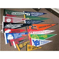 Multiple Collegiate Pennants