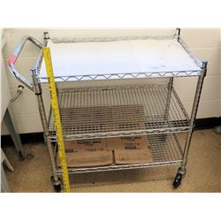 Metal Wire Rolling Cart
