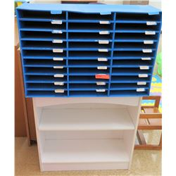 White 2 Tier Shelf & Cardboard Sorter