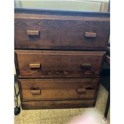 Wooden 3-Drawer Dresser