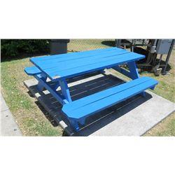 Blue Picnic Table