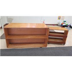 Lakeshore Bookcase & Shelving Unit w/ Wheels