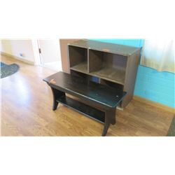 Bookcase and Bench w/  Storage Compartment