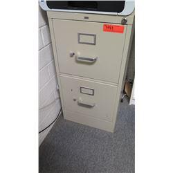HON 2-Drawer Metal File Cabinet