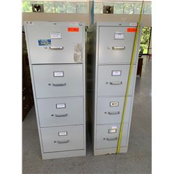 2 Vertical Metal File Cabinets