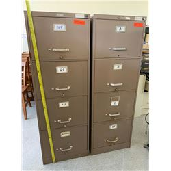 2 Vertical Metal File Cabinets (Brown)
