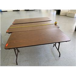 3 Folding Utility Tables