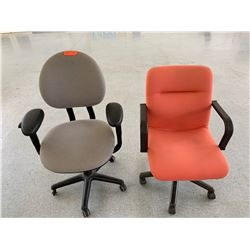 Qty 2 Rolling Office Chairs