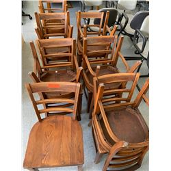 13 Wooden Chairs