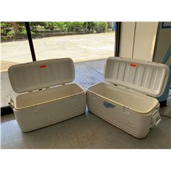 2 Large Ice Chests (Coolers), Missing Closure Tabs