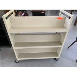 3-Tiered Rolling Book Cart