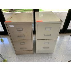 Qty 2, 2-Drawer Metal File Cabinets