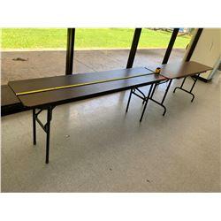 2 Long, Narrow Folding Utility Tables