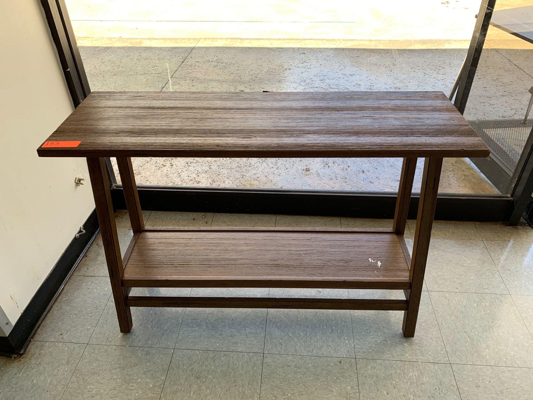 Small Wooden Side Table W Undershelf Oahu Auctions