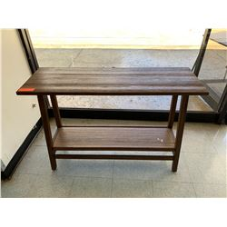 Small Wooden Side Table w/ Undershelf