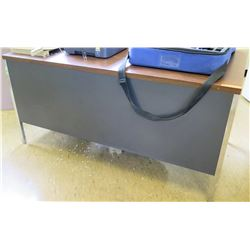 Wood-Top Metal Desk w/ Rolling Chair