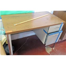 Wood and Metal Desk w/ Rolling Chair
