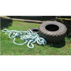 3 Tires and Rope (Used in Athletic Training)