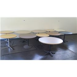 11 Rounds Tables Used in Cafeteria Various Sizes (Music Room)