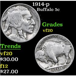 1914-p . . Buffalo Nickel 5c Grades vf, very fine