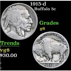 1915-d . . Buffalo Nickel 5c Grades g+