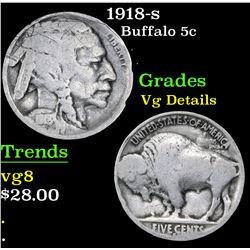 1918-s . . Buffalo Nickel 5c Grades vg details
