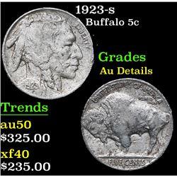 1923-s . . Buffalo Nickel 5c Grades AU Details
