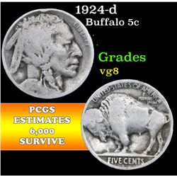 1924-d . . Buffalo Nickel 5c Grades vg, very good