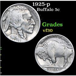 1925-p . . Buffalo Nickel 5c Grades vf++
