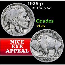 1926-p . . Buffalo Nickel 5c Grades vf+