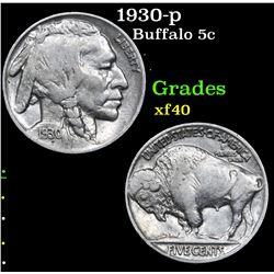 1930-p . . Buffalo Nickel 5c Grades xf